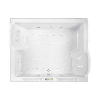 """Jacuzzi FUZ7260CCL4CH Fuzion 72"""" Salon Spa Drop-In or Undermount Bathtub with Chromatherapy, Heater, Center Drain and Luxury"""