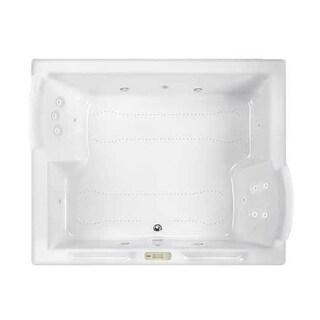 "Jacuzzi FUZ7260CCL4CW Fuzion 72"" Salon Spa Drop-In or Undermount Bathtub with Chromatherapy, Whisper Technology, Heater, Center"