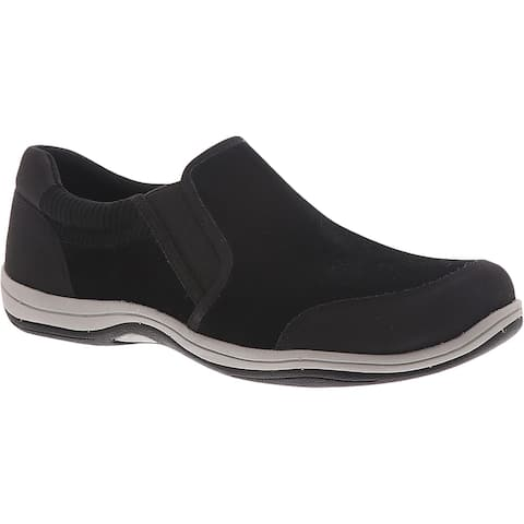 Easy Street Womens Infinity Walking Shoes Leather Slip On - Black - 8 Narrow (AA,N)