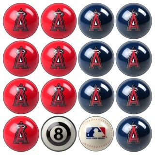 MLB Los Angeles Angels of Anaheim Baseball Billiard Balls Complete Set of 16 Balls
