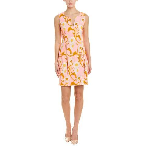 Julie Brown Linen-Blend A-Line Dress