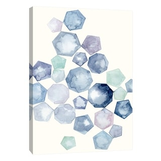 """PTM Images 9-105693  PTM Canvas Collection 10"""" x 8"""" - """"Watercolor Hexagons B"""" Giclee Abstract Art Print on Canvas"""