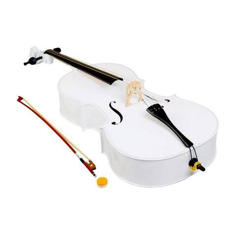 4/4 Wood Cello Bag Bow Rosin Bridge White/Retro