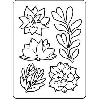 "Embossing Folder 4.25""X5.75""-Succulents"