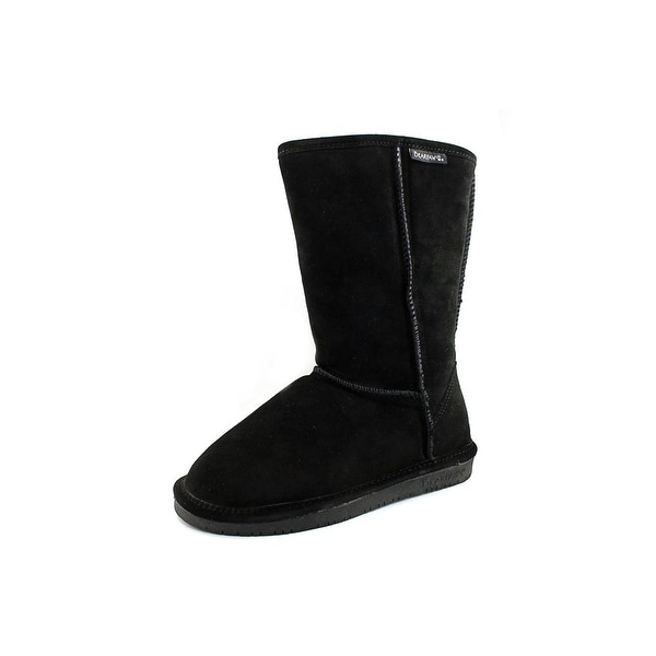 Bearpaw Emma Women Round Toe Suede Black Snow Boot