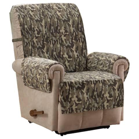 Camo Plush Olive Recliner Furniture Cover