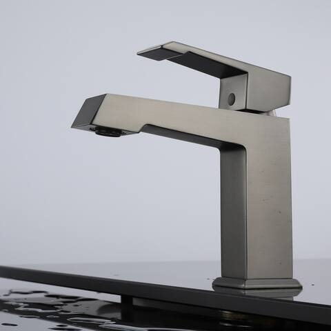 Bathroom Sink Faucet Modern Basin with Gun Black - 6.42*3.94