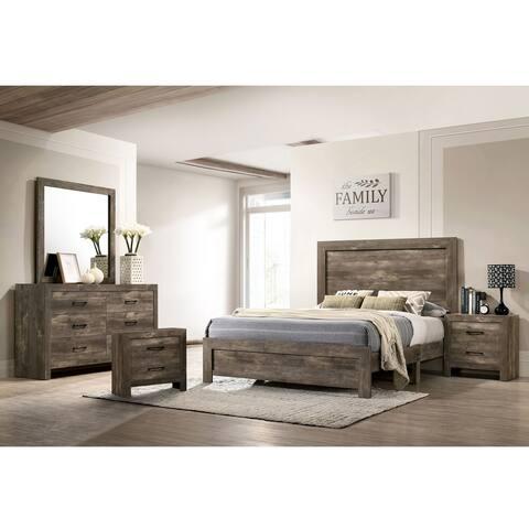 Furniture of America Justinna Rustic Natural Tone 5-piece Bedroom Set