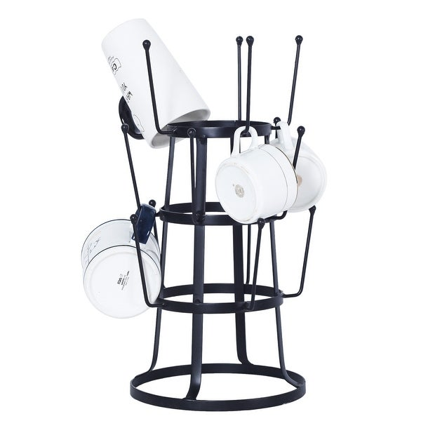Stylish Steel Mug Tree Holder Organizer Rack Stand (Black). Opens flyout.