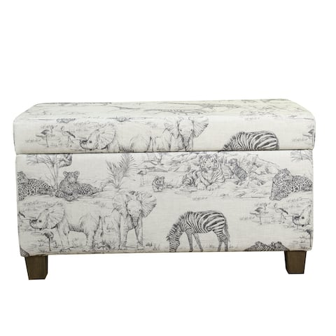 HomePop Kids' Jungle Storage Bench