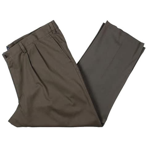 Dockers Mens Big & Tall Khaki Pants Woven Pleated - Taupe