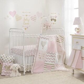 Lambs & Ivy Pink Baby Love 6-Piece Crib Bedding Set