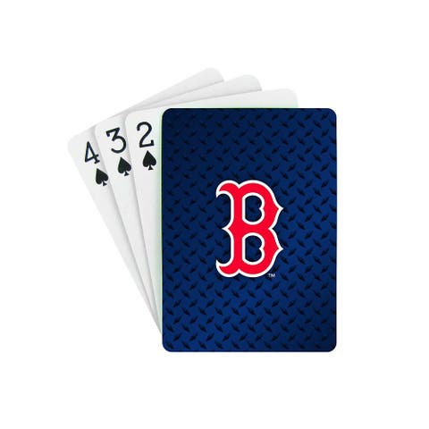 Boston Red Sox Playing Cards B Logo Design