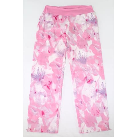 prAna Womens Pants Deep Pink Size Large L Mid-Rise Abstract-Print