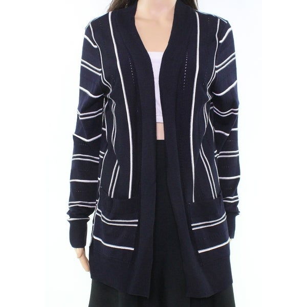 3c2a7546219 Shop Isela Blue Navy Striped Women s Size Medium M Pocketed Cardigan - Free  Shipping On Orders Over  45 - Overstock - 21937020