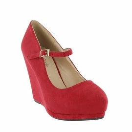 Red Circle Footwear Kanissa Mary Jane Wedge