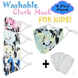 Kids Face Mask Cloth Reusable with Valve + PM2.5 Filters Non Medical