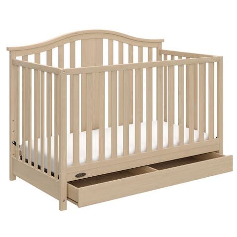 Graco Solano 4-in-1 Convertible Crib with Drawer - Converts to Toddler Bed, Daybed, and Full-Size Bed