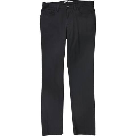 Calvin Klein Mens Solid Casual Trouser Pants, Grey, 31W x 32L - 31W x 32L