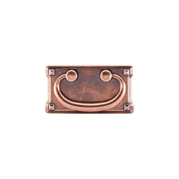 """Top Knobs M236 Mission 3"""" Center to Center Drop Cabinet Pull from the Chateau II Series - ANTIQUE COPPER"""