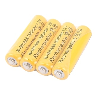 4 Pcs Ni-MH AAA 1800mAh 1.2V Rechargeable Batteries Ultra cell Battery Yellow