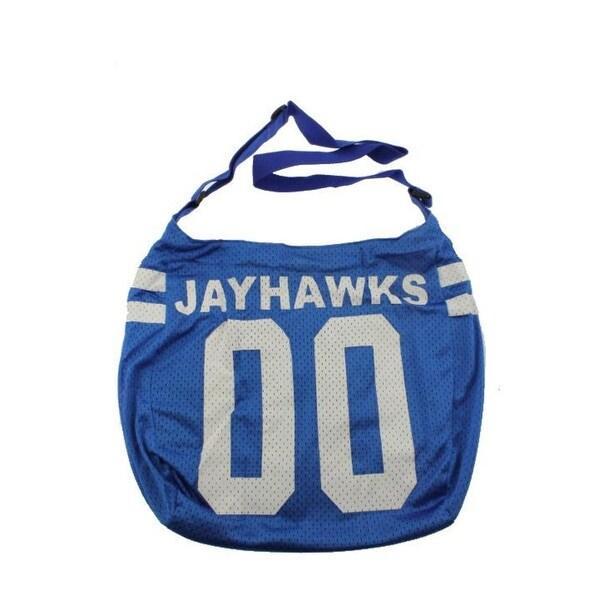 Get Ready Girls Womens Kansas Jayhawks Hobo Handbag Tricot - MEDIUM