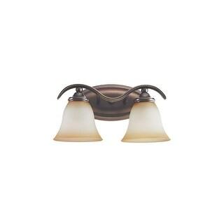 Sea Gull Lighting 44360-829 Rialto 2-Light Vanity Russet Bronze Finish - bronze finish