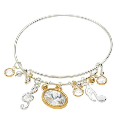 Music Notes Deluxe Charm Bangle Bracelet - Exclusive Beadaholique Jewelry Kit
