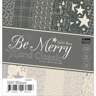 """Be Merry And Classic Paper Pad 6""""X6"""" 24/Pkg-"""