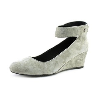 J. Renee Melenne Open Toe Suede Wedge Heel