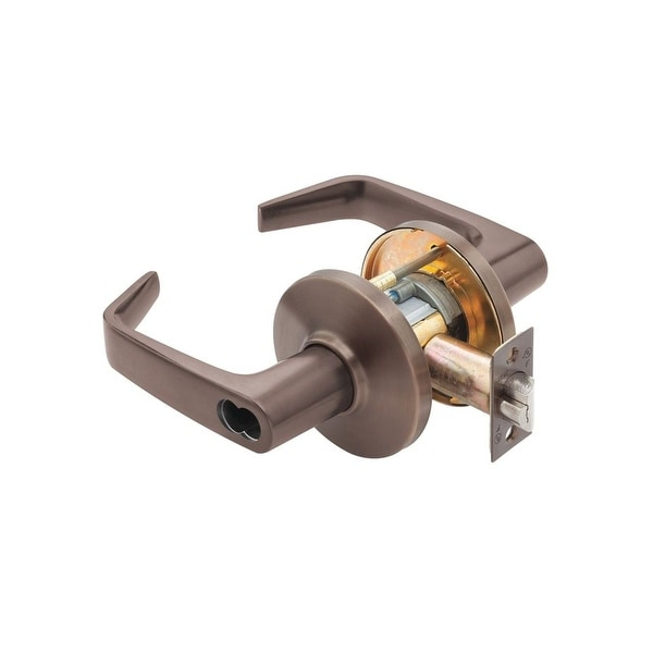"""Best Access 9K37AB15DS3 9K Series Keyed Entry Door Lever Set with """"15"""" Lever, """"D"""" Trim, S3 Strike and 2-3/4"""" Backset"""