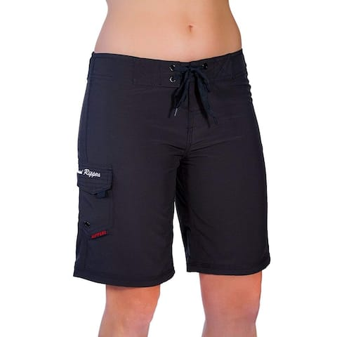 Maui Rippers Womens Swimwear Black Size 14 Drawstring Board Shorts