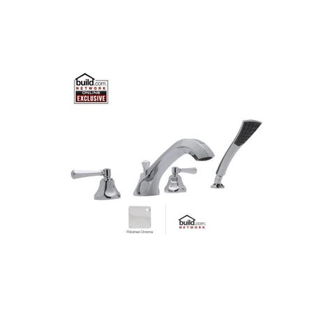 Rohl WE2311LM Wellsford Double Handle Deck Mounted Tub Filler