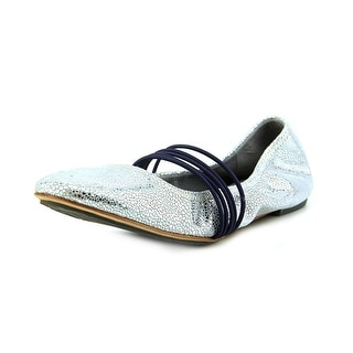 Tsubo Honnor Metallic Crackle Round Toe Leather Ballet Flats