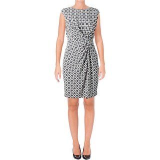 Lauren Ralph Lauren Womens Petites Wear to Work Dress Geometric Above Knee