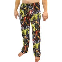 Marvel Avengers Comic Book Print Men's Sleep Lounge Pants Captain America