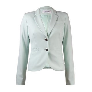 Calvin Klein Women's Petite Solid Two-Button Jacket