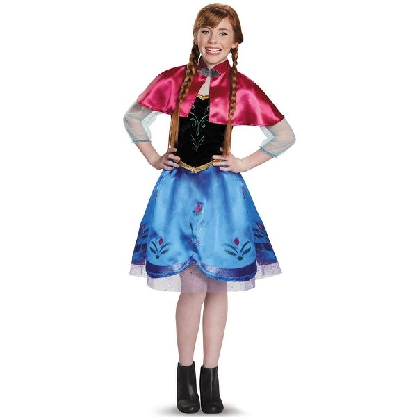 Disguise Anna Traveling Tween Costume - Blue/Pink