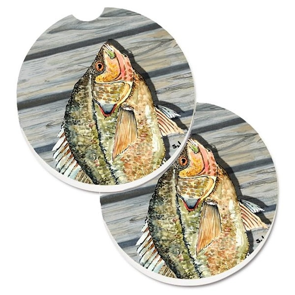 270829818e8 Shop Croppie Fish on Pier Set of 2 Cup Holder Car Coaster - Free Shipping  On Orders Over  45 - Overstock.com - 25256578