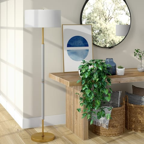Silver Orchid Two-tone Floor Lamp