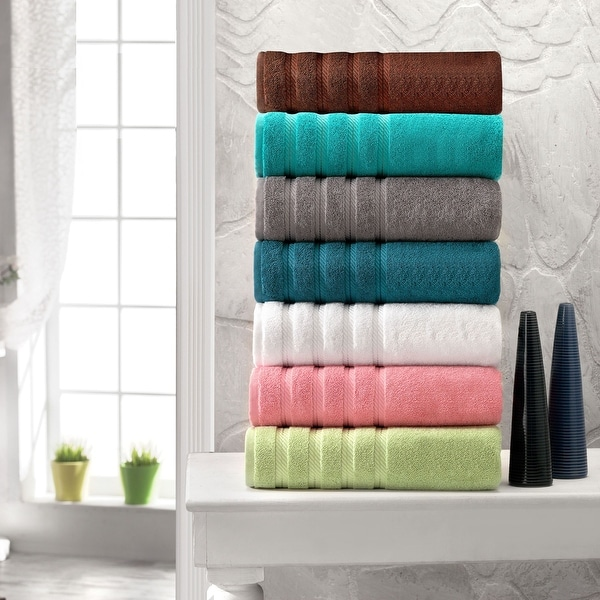 Antalya Collection Thick Soft Turkish Cotton 12-piece Towel Set. Opens flyout.