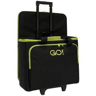 AccuQuilt GO!® Multi-Purpose Rolling Tote with Die Bag in Black