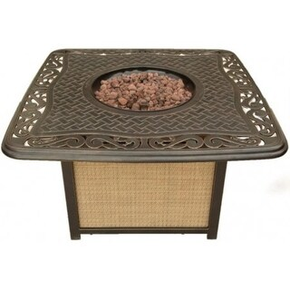 Cambridge Artisan ARTISAN1PCFP Cast-Top Fire Pit - aluminum/tan