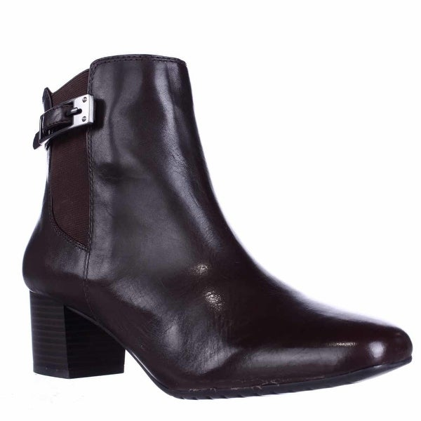 Bandolino Lethia Dress Ankle Boots, Dark Brown/Dark Brown