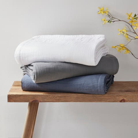 Gauze 100-percent Cotton Blanket by Clean Spaces