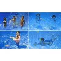 4-In-1 Fun Pack Swimming Pool Games - Basketball, Ring Toss, Dive Rings and UFOS - Multi