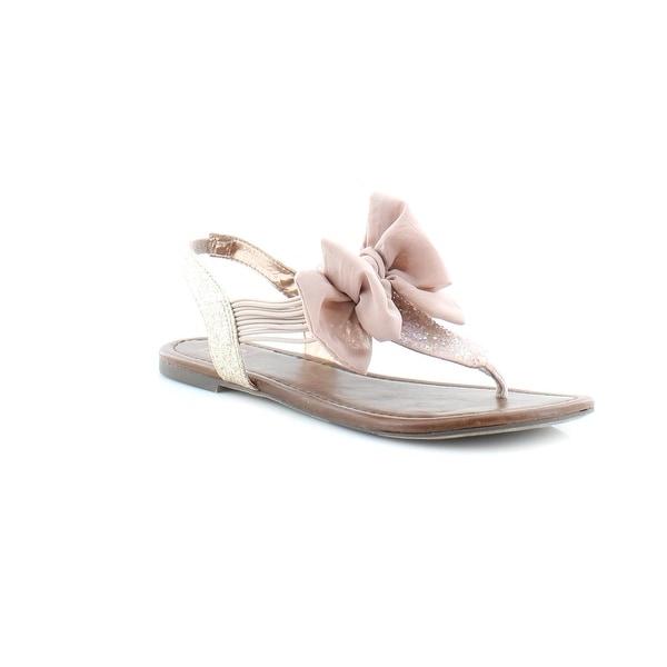 Material Girl Swan Women's Sandals & Flip Flops Blush - 6.5