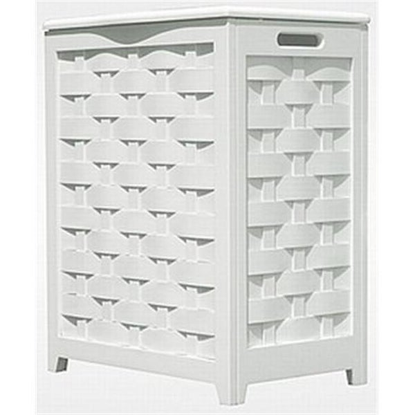 Oceanstar Rhv0103w White Finished Laundry Hamper With Interior Bag Free Shipping Today 24964076