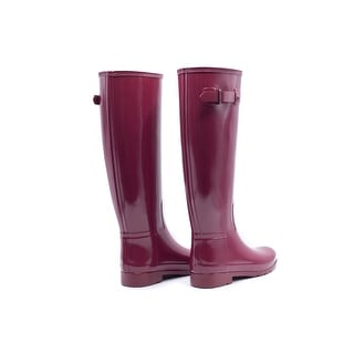 Hunter Womens Red Original Refined Gloss Rain Tall Boots