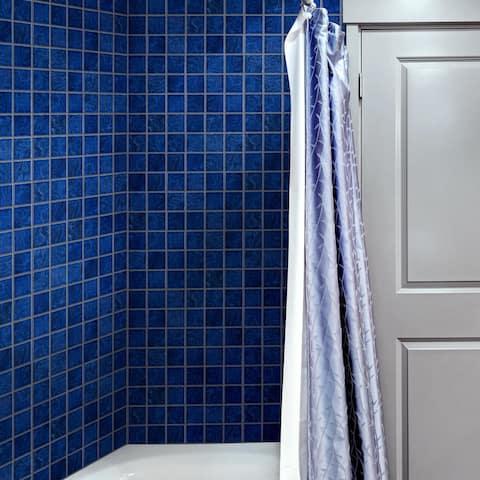 "SomerTile Resort Marine Blue 12"" x 12"" Porcelain Mosaic Tile"
